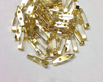 Golden Brooch Pins 20mm x 5mm For Jewellery Making