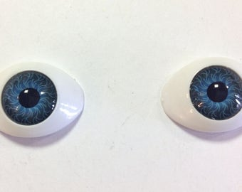 10mm BJD Oval Eyes - Choice of Colour - Doll Making Soft Toy Animal Craft - Sizes are measurements of the Iris
