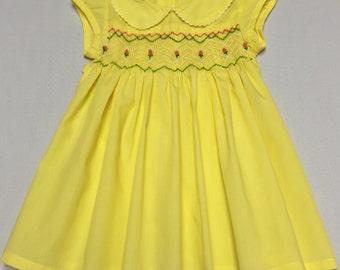 Yellow Smock Dress