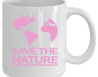Nature white coffee mug. Funny Nature gift