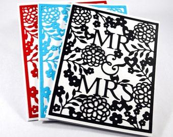 Handmade Wedding Card / Mr and Mrs Card / Handmade / Engagement