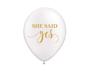 She Said Yes Balloons, Bridal Shower Decor, Decoration, Bachelorette Party Decoration, Bride to Be, Bridal Shower, Engagement Photo Prop