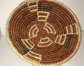 Hopi Coil Deer Basket-Very Old! Natural Dyes