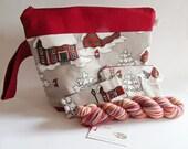 SET-2016-005 knitting Projectbag Knittingprojectbags Projectbags Selfstriping yarn Knitting Crochet embroidery knitting project bag Projekttasch