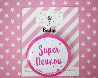 "Badge ""Super nanny"""