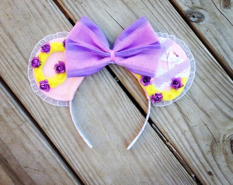Tangled Disney Princess Rapunzel Inspired Minnie Mouse Ears