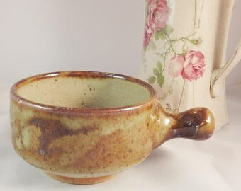 Retro Friars Pottery Single Arm Soup Bowl - Glazed Studio Pottery - Aylesford England