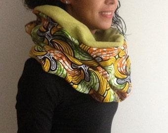 Ankara infinity scarf African print scarves wrap tube winter shawl
