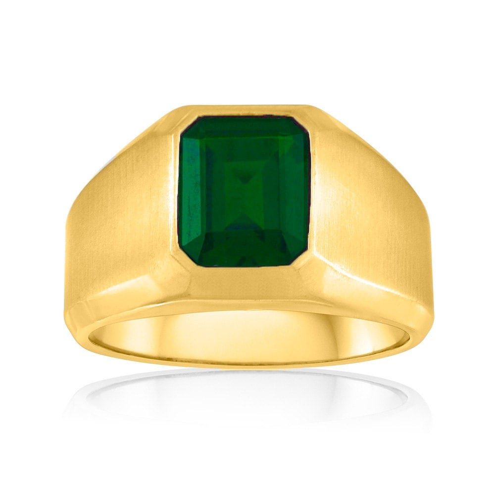 simple green emerald ring s emerald signet ring 10k