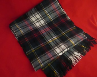 """A 100% Pure Lambswool Plaid Scarf & Made in Scotland for Trader Vic's. """"Glentana"""""""