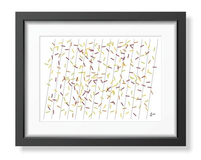 Pi sticks 04 [mathematical abstract art print, unframed] A4/A3 sizes