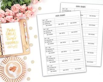 Online Orders - printable planner insert - Filofax A5 - Kikki K Large - print at home - planner refill - online order tracker