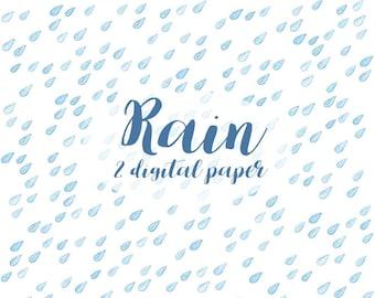 Raindrops clipart | Etsy