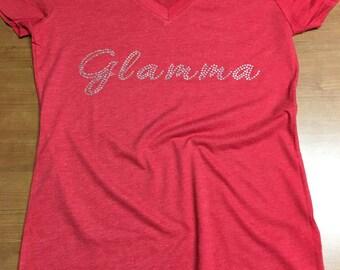Glamma Rhinestone Shirt ~ Glamma Shirt ~ Grandma Shirt ~ Diva Glamma ~ Grandma Gift ~ Mother's Day Gift ~ Glamma Gift ~ Glam-ma Shirt ~ Tee