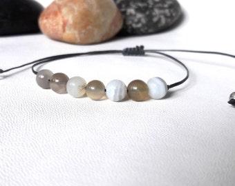 Mens bracelet Botswana Agate Bracelet Yoga bracelet Mens jewelry unisex bracelet Healing Bracelet simple bracelet love bracelet Quit Smoking