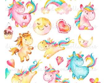 unicorn planner stickers - planner stickers - unicorn happy planner stickers - unicorn erin condren life planner stickers - unicorn stickers
