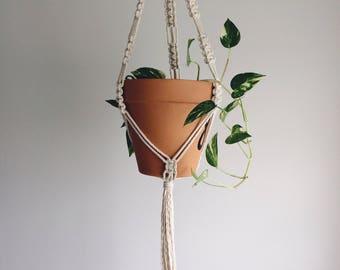 Macrame plant hanging, planter, fiber art, cotton rope