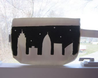 City Skyline Cosmetic Bag - Day & Night