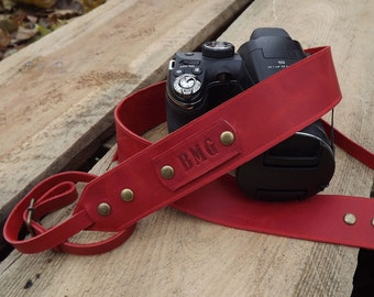Leather Camera Strap/Personalized camera strap leather/Canon camera strap/canon camera/Nikon camera strap|Gift for Photographer\Camera Strap