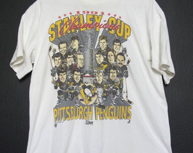 Pittsburgh Penguins Big Head NHL 1991 vintage Tshirt