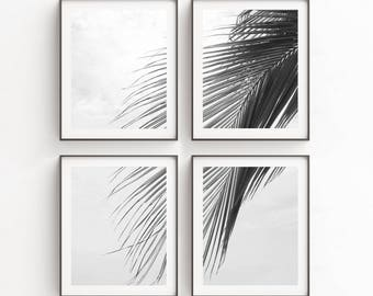 Tropical Print | Palm Leaf Print | Wall Art Print Sets | Tropical Decor