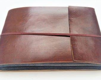Leather Photo Album Scrapbook
