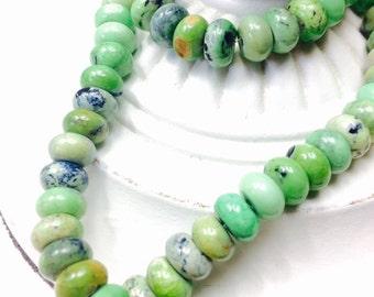 Stunning Chrysoprase Smooth Rondelle Gemstone Beads 8x5mm,