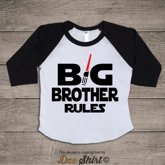 Big brother shirt; baby boy birthday t-shirt; best gift idea for kids; newborn son sibling tee; cute children star wars light saber outfits