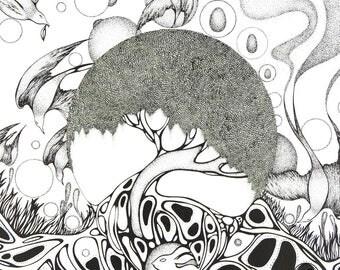 Original Ink drawing - Magic tree
