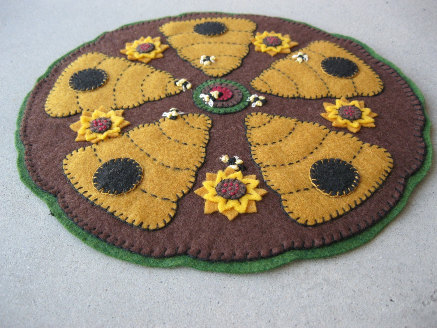 PDF Pattern Beehive Penny Rug Instant Download Summer