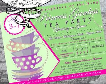 Princess Tea Party Invitation/Flyer