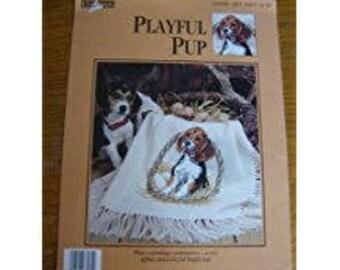 PLAYFUL PUP Beagle Cross Stitch Pattern