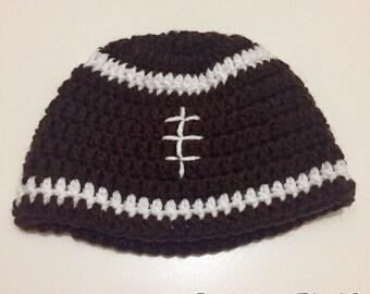 Crochet Football Beanie - For any team