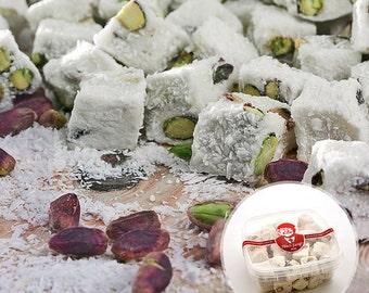 Double Roasted Coconut & Pistachio Turkish Delight (250/500 grams optional)