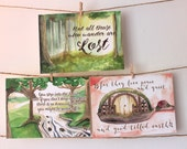 """Middle-earth Inspired Prints! Tolkien! Hobbits! Yes! 5""""x7"""" Postcard Print"""