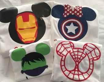 Avengers, spiderman, iron man, captain amarica, hulk, super heroes, disneyworld, disneyland