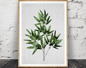 Botanical Wall Art palm leaf print botanical wall art large printable poster