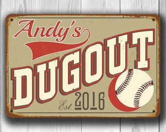 CUSTOM DUGOUT SIGN Sports Bar Dugout SignCustomized With Proprietors Name Personalized
