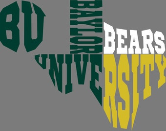 Baylor Texas University SVG... DXF