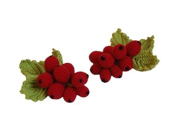 Red Currant(1pcs)- Crochet Berries Crochet Play Food Play Food Pretend Play Food
