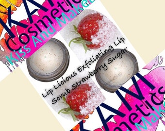 Strawberry & Sugar Exfoliating Lip Scrub