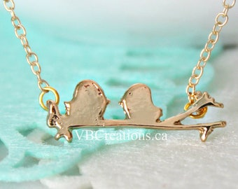 Bird Necklace - Birds Necklace - Bird Jewelry - Little Bird - Dainty Chain - Silver - Gold - Minimalist - Sweet - Best Friend Gift - Sister