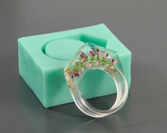 Ring silicone mold (US size 7, inside diameter 17.35 mm) - Form for making rings of epoxy resin and polymer clay