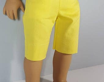 18 inch doll clothes Yellow Capri Pant