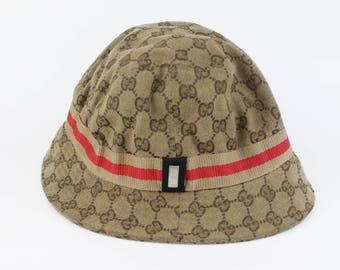 Vintage GUCCI Bucket Hat - Made In Italy - Sz XL