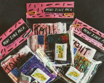 Mini Zine Pack - Small and Tiny Zines Special, Limited Edition
