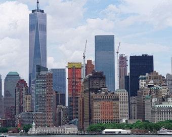 New York City Skyline, New York Cityscape Architecture, Skyscraper, Freedom Tower, Canvas, Print, Wall Art, Gift, Home Decor, Office Decor