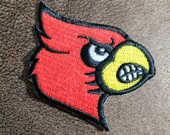 """Louisville Cardinals Iron On Patch 2 1/2"""" x 2 1/4"""" Free Shipping"""
