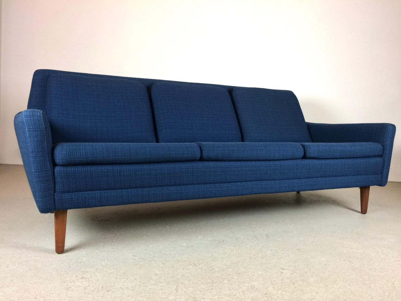 sold mid century modern blue wool folke ohlsson for dux dani