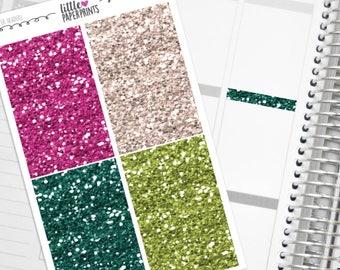 "32 Headers - ""Grateful Heart"" Glitter Series Stickers - Glitter Sparkle Header Planner Stickers"